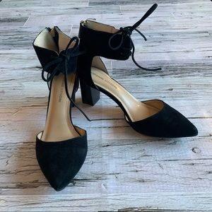 ADRIENNE VITTADINI | Suede ankle strap heels